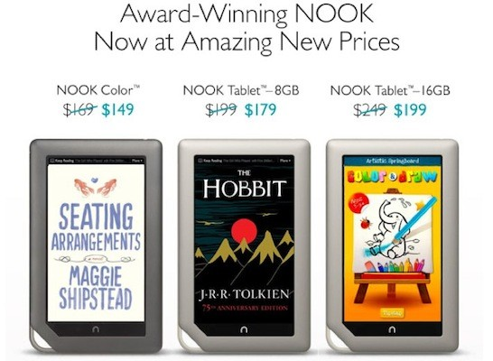 Barnes and Noble cuts prices across its Nook lineup, hopes to win your budget tablet affection