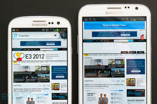 it was a shock samsung s latest superphone has arrived and it s got a