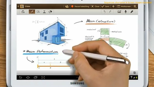 Samsung's Galaxy Note 10.1 coming worldwide this month, UI shown off on YouTube
