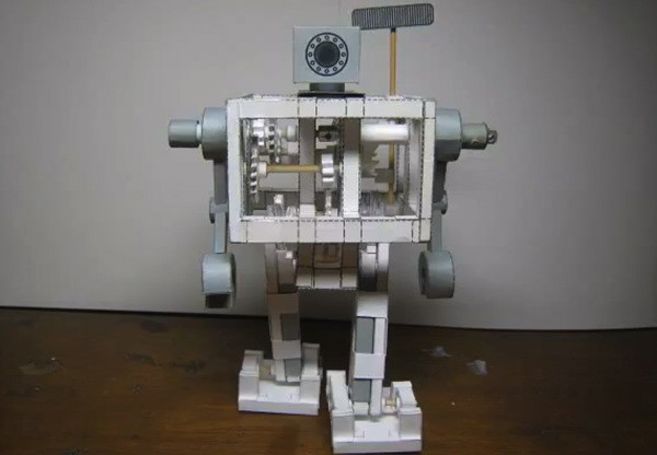 Robot made from paper spells doom for the trees in the Robopocalypse video