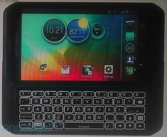 Sprint's Motorola Photon Q 4G LTE detailed 15GHz dualcore CPU, QWERTY keyboard, TK