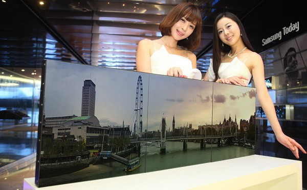 Samsung builds businessonly transparent and bezelfree screens