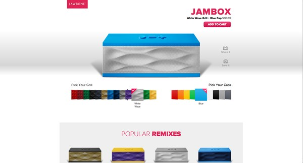 Jawbone takes a cue from Colorware, will let customers order the Jambox speaker in custom colors