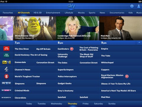 Sky iPad app update brings remote control and DVR scheduling
