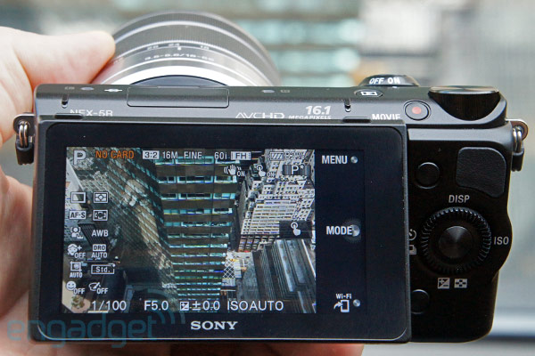 Sony announces 161megapixel NEX5R with Fast Hybrid AF, WiFi connectivity and downloadable apps handson video