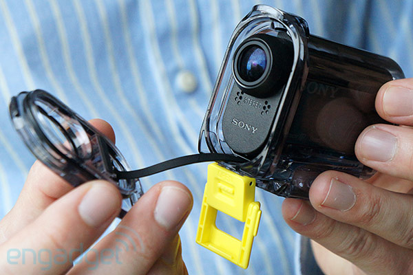 Sony's tiny ruggedized Action Cam gets more official with 16MP Exmor R, WiFi, $199 price tag handson video