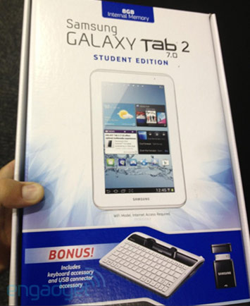 Galaxy Tab 2 70 Student Edition spotted at Best Buy $249 with bundled keyboard and USB adapter