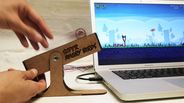 Super Angry Birds USB controller puts the sling in your shot video