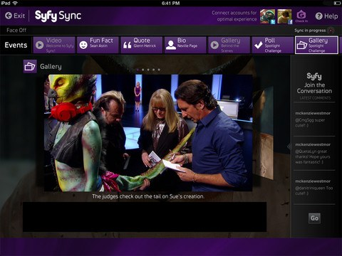 Syfy's for iPad adds Sync feature, second screen content launches Tuesday with Face Off