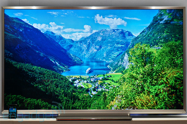 Toshiba 84inch 4K Quad Full HD TV handson video