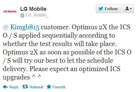 LG confirms Optimus 2X will indeed be updated to ICS in Korea