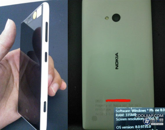Nokia 820 prototype breaks cover in photos, confirms little else