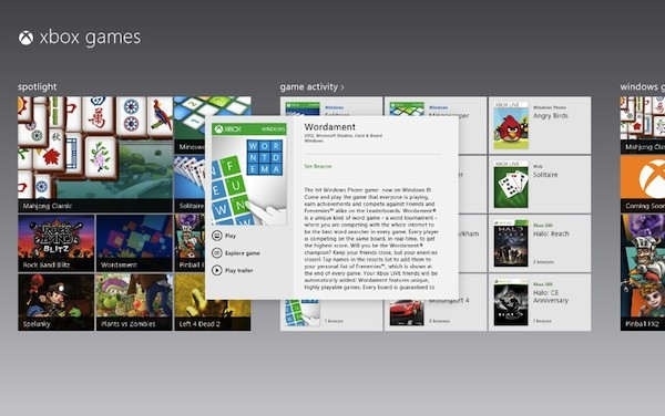 Microsoft confirms first wave of Xbox games for Windows 8