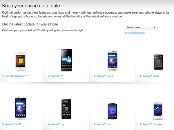 Sony's 2011 Xperia Ice Cream Sandwich rollout now in final stages