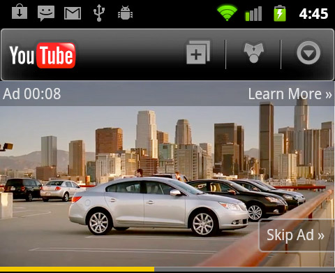 YouTube heralds arrival of instream ads, builtin annoyance for mobile devices