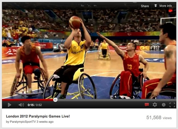 YouTube to live stream this year's London Paralympics in the US and Canada