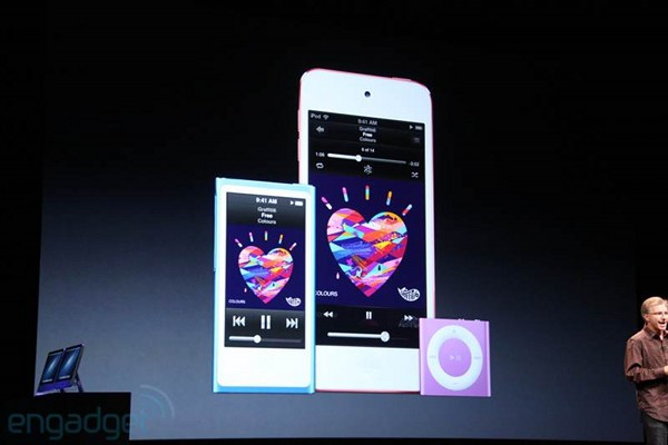 iPod shuffle updated with much needed new hues