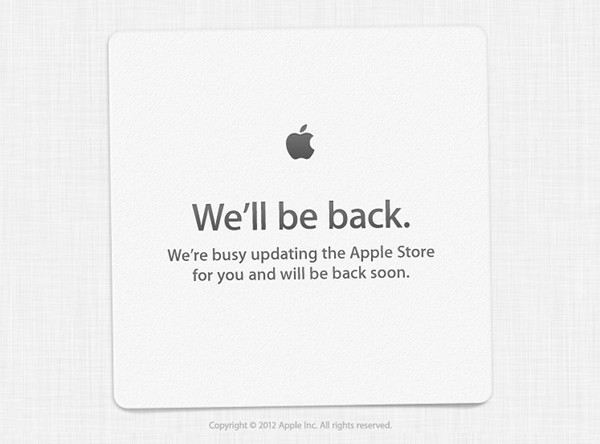 Apple Store goes down ahead of iPhone announcement
