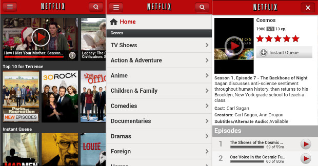 Netflix extends new user interface experience to Android phones