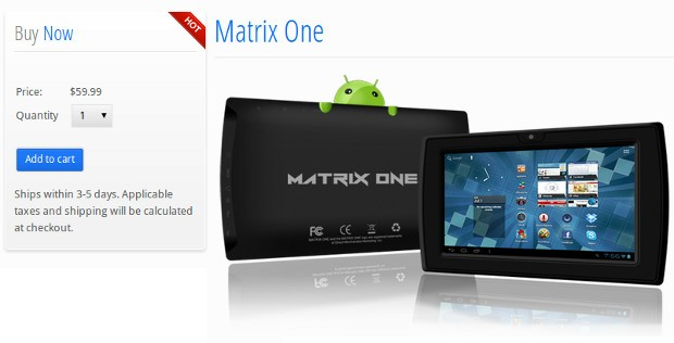 Matrix One drops to $60