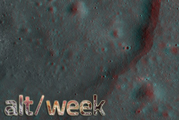 Altweek 92912 3D pictures of the moon, 4D clocks and lasercontrolled worms