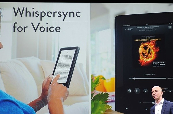 Amazon announces Whispersync for voice pick up in text where the audio left off