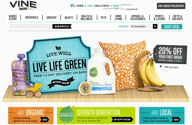 amazonvine 1348672385 Amazon launches Vine.com for shoppers who live life on the green edge