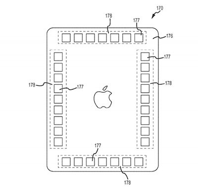 Apple patent application details sensors for adjusting onscreen keys, backside controls
