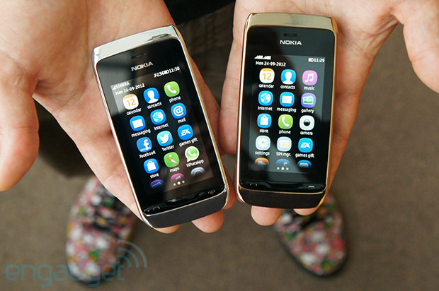 Handson with Nokia's Asha 308 and 309 video