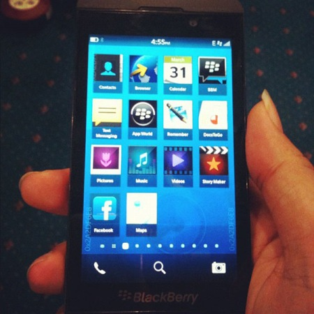 BlackBerry 10 LSeries alltouchscreen phone caught on camera