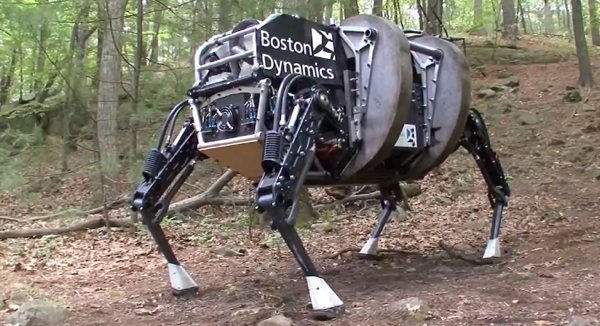 Boston Dynamics shows a quieter, more thoroughbred AlphaDog to DARPA and the Marines video