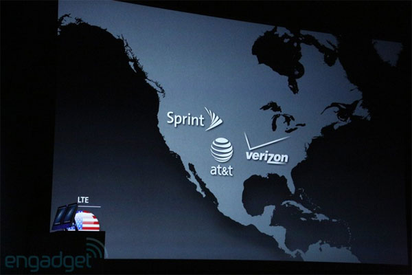 Apple announces worldwide carriers Sprint, AT&T and Verizon will support LTE in the US