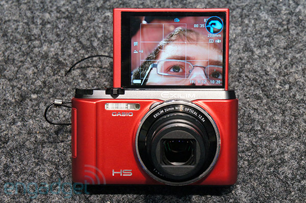 Casio joins the selfportrait LCD ranks with the &euro350 Exilim EXZR1000, we go handson video