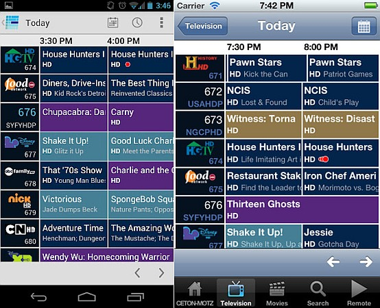 Ceton Companion apps for iOS and Android are available, bring WMC mobile control for $  5