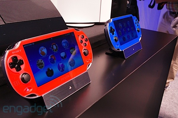 Sony's PlayStation Vita gets a blue and redhued makeover, we take a closer look eyeson