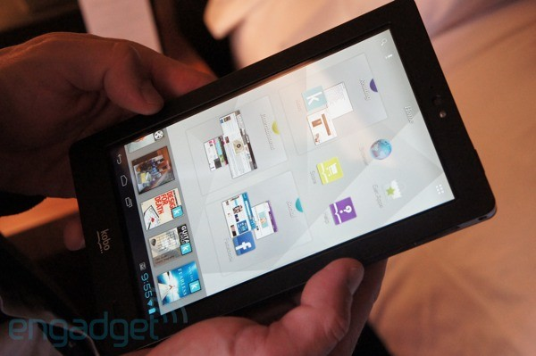 Kobo Arc tablet handson video