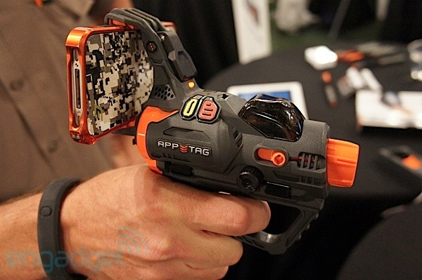 Hex3 AppTag pistol turns iPhones and Androids into augmented reality laser tag gun sights handson