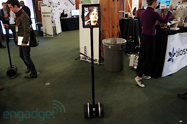 Double telepresence bot spotted in the wild, we go eyeson video