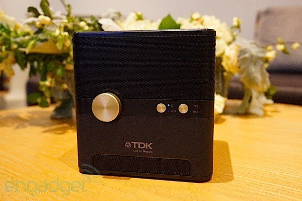TDK's Wireless Charging Cube pumps out the jams, juices your Qi devices and resists water