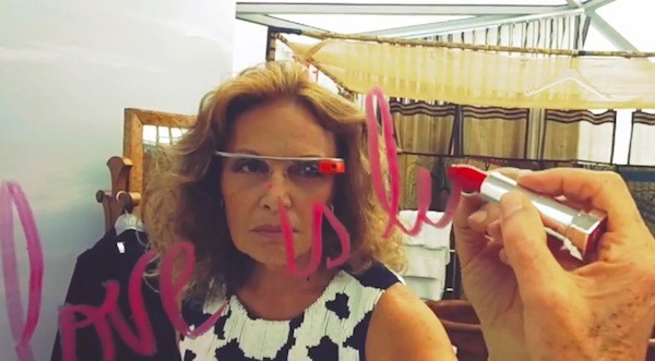 Google Glass shows how Diane von Furstenberg is living, what it's like to stroll the catwalk at New York Fashion Week video