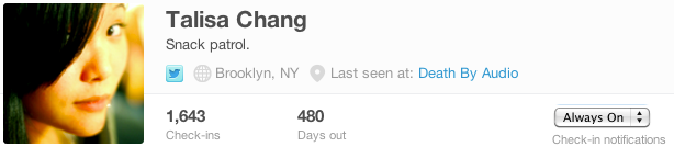 Foursquare 'Always On' keeps the checkins rolling no matter what