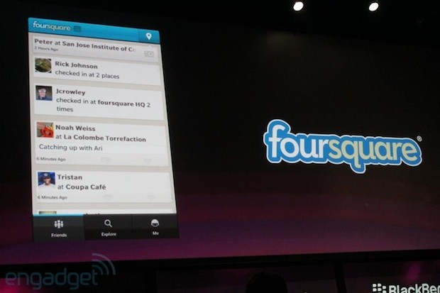 RIM shows off native Facebook app for BlackBerry 10, confirms Twitter, Foursquare and LinkedIn for launch