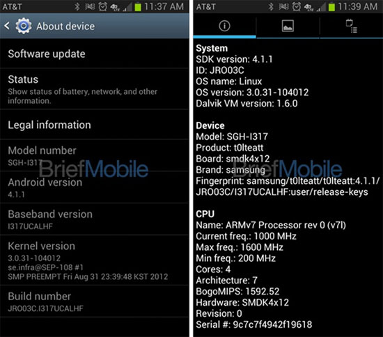 Leaked screenshots show Galaxy Note 2 on AT&T, may be coming to TMobile and Sprint, too