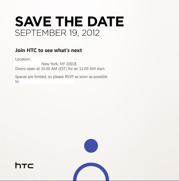 HTC announces upcoming event on September 19th