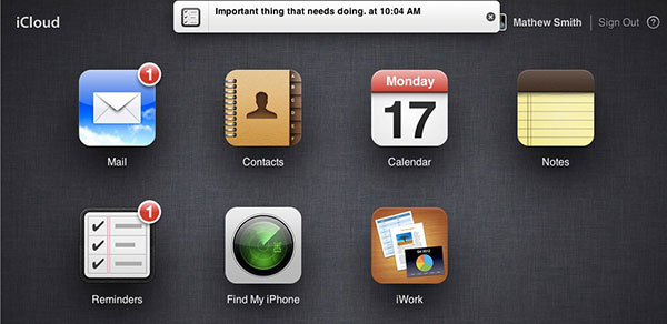 Apple iCloud adds iOSstyle notification bar, Notes and Reminders