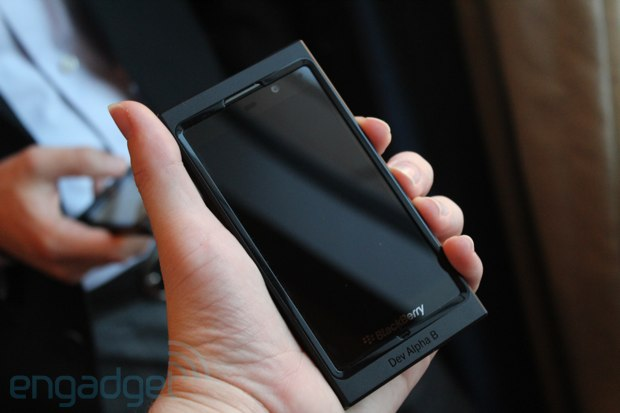 BlackBerry's new Dev Alpha B handset runs BB10, we go hands-on