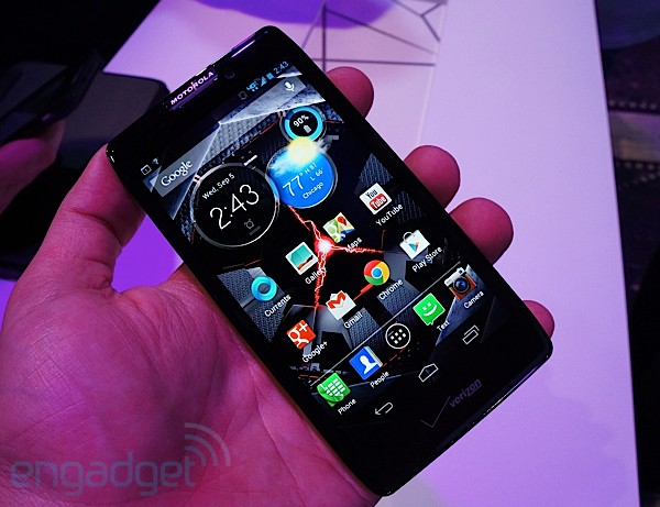 Motorola Droid RAZR HD Maxx handson bigger battery, beautiful display, Jelly Bean onboard