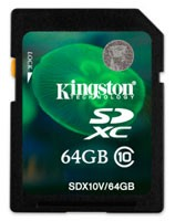 Kingston Digital SDXC cards arrive with low price, Class 10 speeds