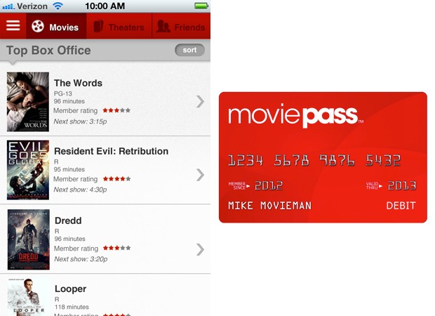 MoviePass launches iPhone app and card combo, takes unlimited viewing to all US theaters