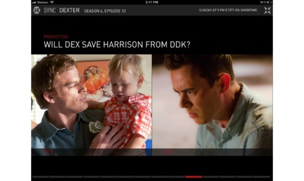Showtime's second screen iPad app hits 20, goes from Social to Sync